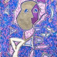Purple Haze Abstract Drawing