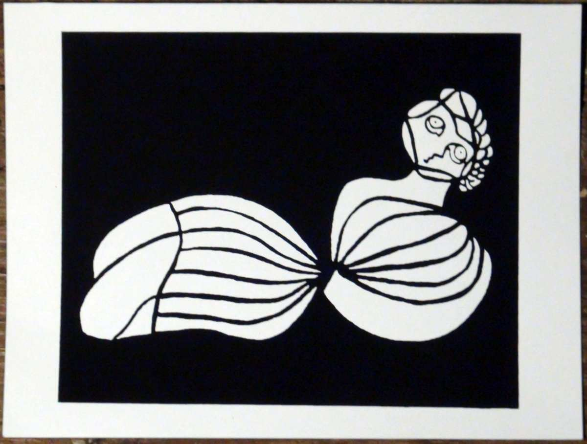 Reclining Lady Screen Print