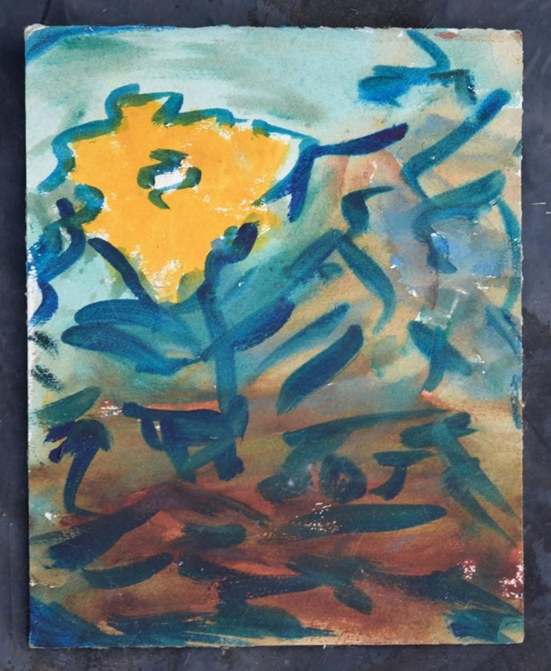 Small Flower Painting Watercolor Abstract
