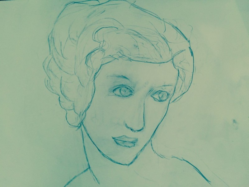 Classical Style Drawing of Female
