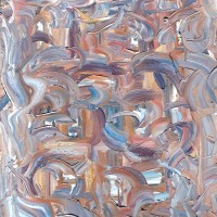 Cubist Swirl Abstract Oil Painting