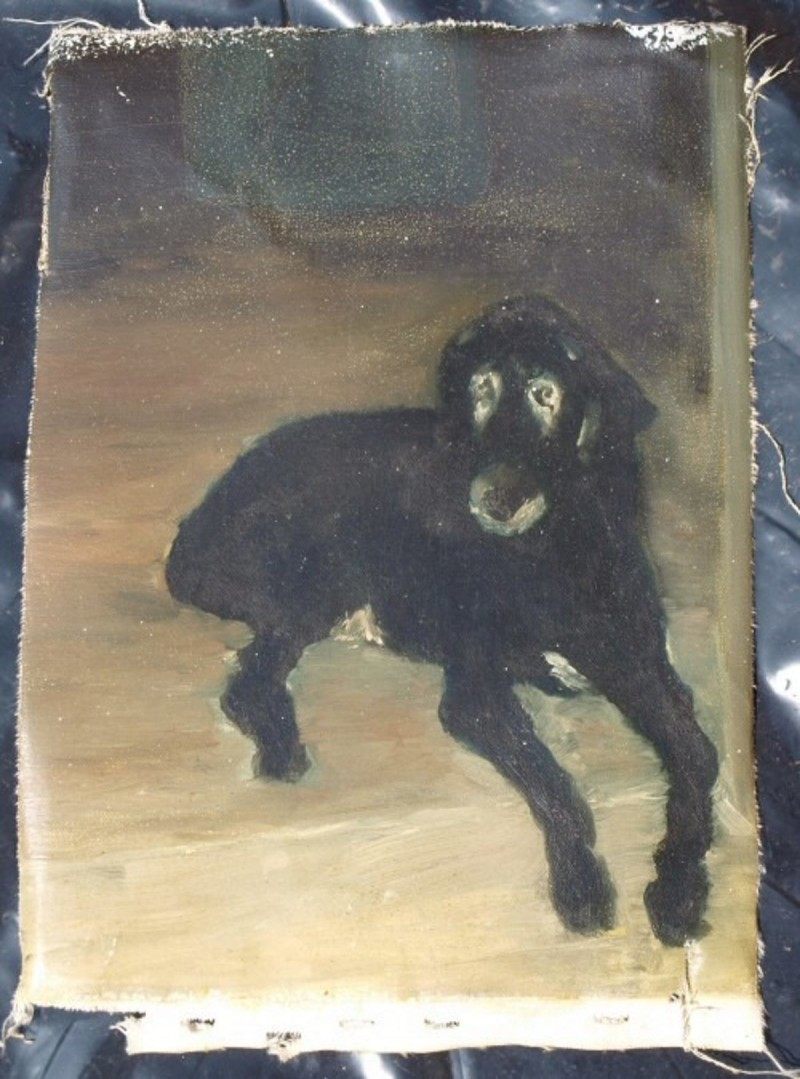 Old Dog Oil Painting