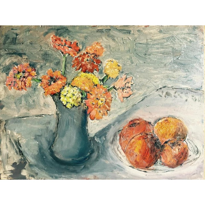 Flowers and Fruit Painting Still Life