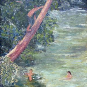 Swimming Hole Painting