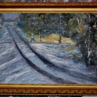 Train Tracks Painting