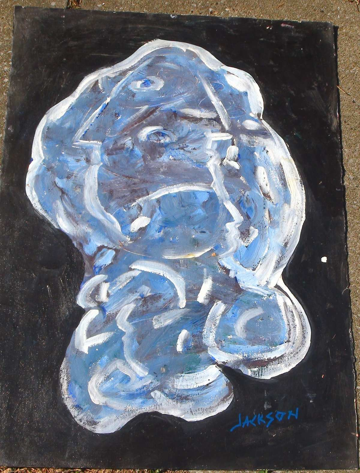 Blue abstract painting art for sale original for Original sculptures for sale