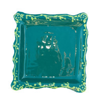 Green plate wall decor