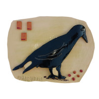 Ceramic Black Bill Bird 5 x 8 inches