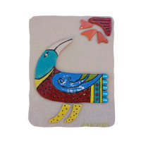 Blue Wing Ceramic Bird 8 x 10 inches