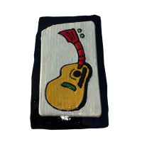 Flat Top Guitar for your wall measures 6 x 4 inches