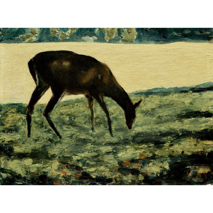 Deer Oil Painting