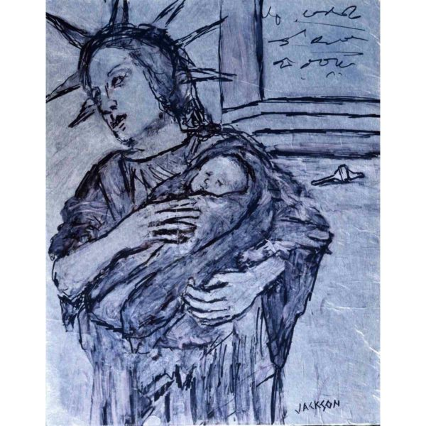 Liberty with Child Painting