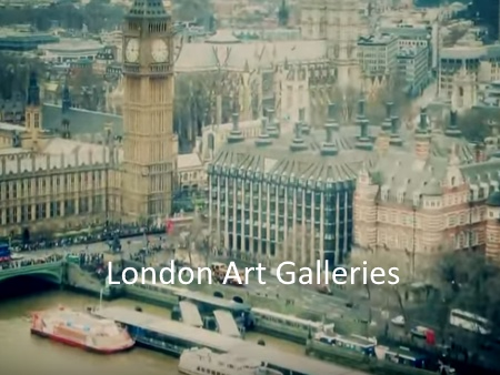 London Art Galleries Maps and Social Media