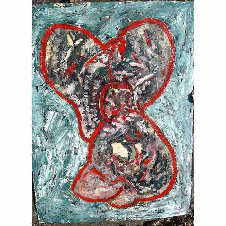 Abstract mouse painting art for sale original for Original modern art for sale