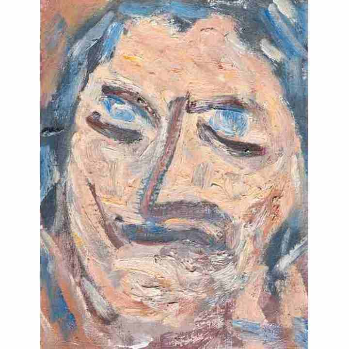 Self portrait abstract painting art for sale original for Original abstract paintings for sale