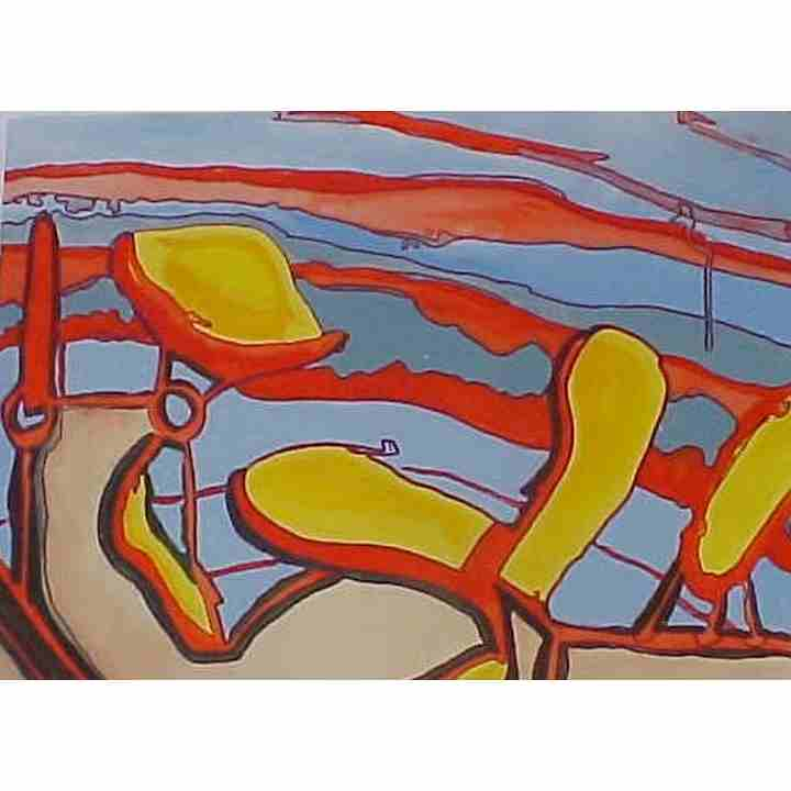 Abstract chair watercolor on arches art for sale original for Original artwork for sale online