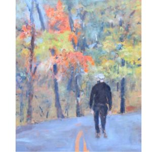 man on road painting