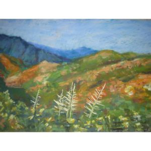 Fall Colors Smoky Mountains Pastel Painting by Justyna Kostkowska