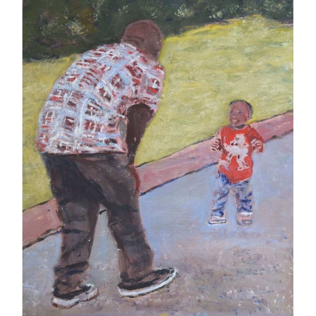 Man with Child Painting